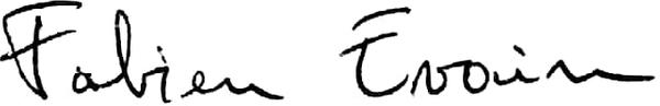 Signature Fabien Evain Hypnothérapeute à Vannes